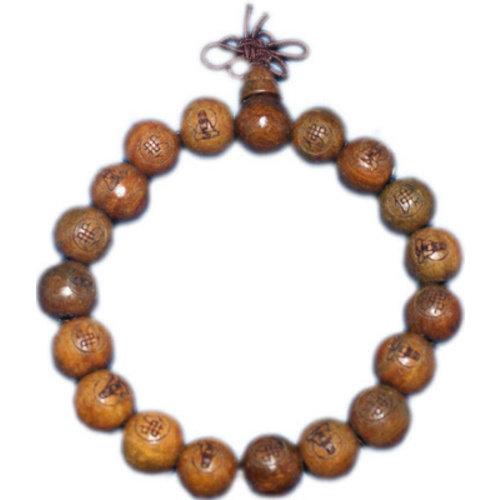 Boeddha armband hout