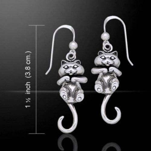 Bewegende kat oorbellen