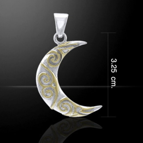 Halve maan zilver en goud