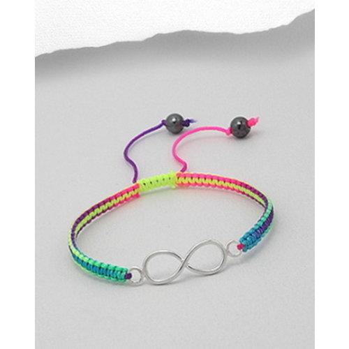 Armband regenboog koord Lemniscaat