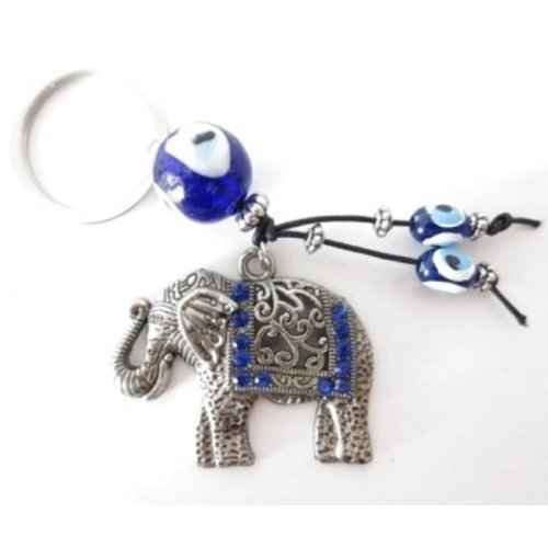Boze oog sleutelhanger olifant
