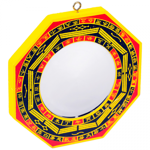 Bagua spiegel hout (holle spiegel)