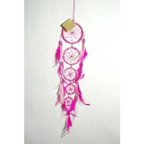 Dromenvanger kleur roze 5 ringen