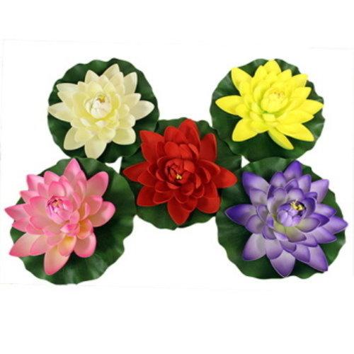 Drijvende lotus bloem groot 27 cm