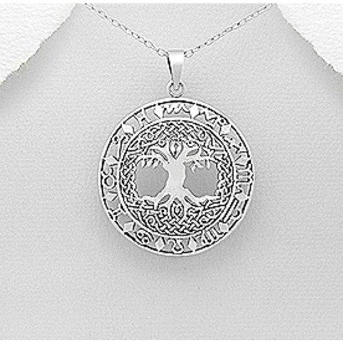 Celtic Tree hanger zilver