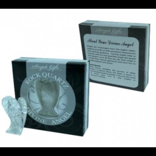 Engel Bergkristal in cadeauverpakking