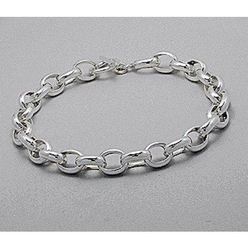 Armband zilver met grote schakels