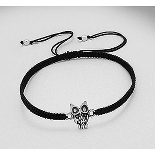Armband uil zilver