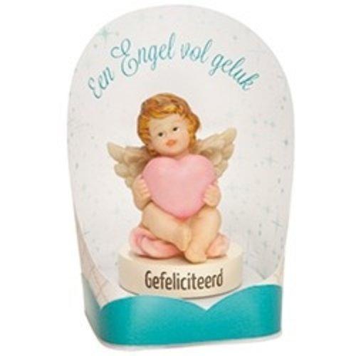Geluksbeeldje engel Gefeliciteerd