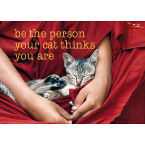 Ansichtkaart be the person your cat thinks you are