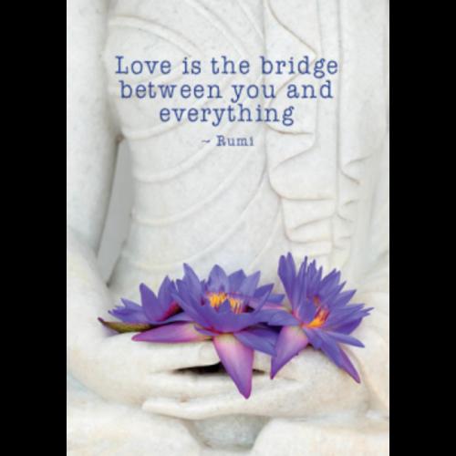 Ansichtkaart Love is the bridge