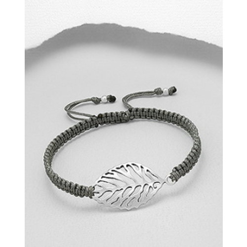 Armband blaadje zilver