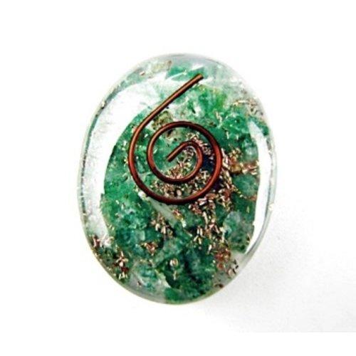 Cabochon orgone groene Jade