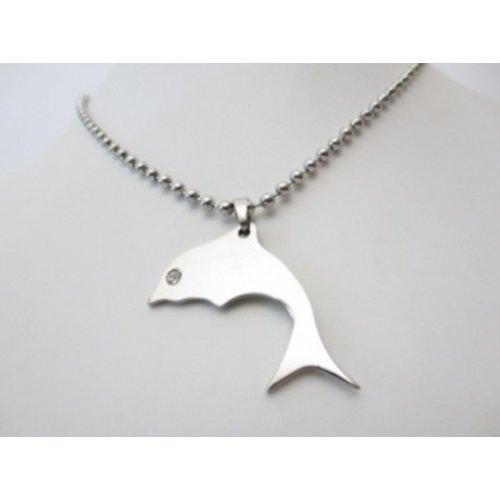 Hanger dolfijn metaal