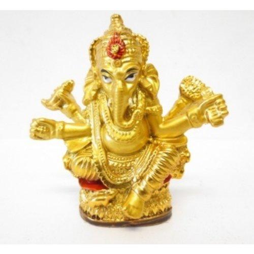 Ganesha beeldje goudkleurig