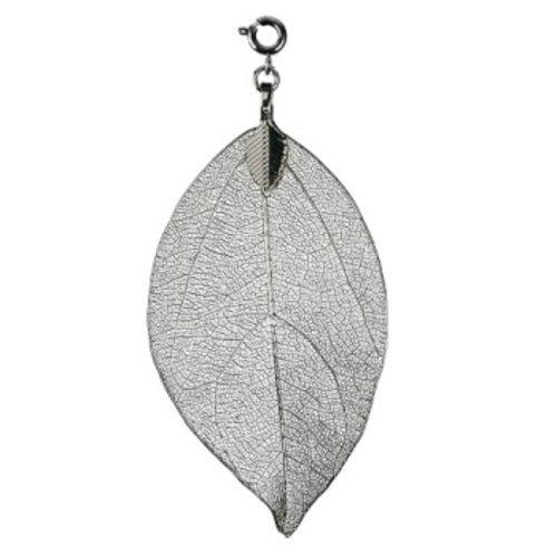 Bodhi blad groot zilverkleurig
