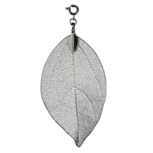 Bodhi blad klein zilverkleurig