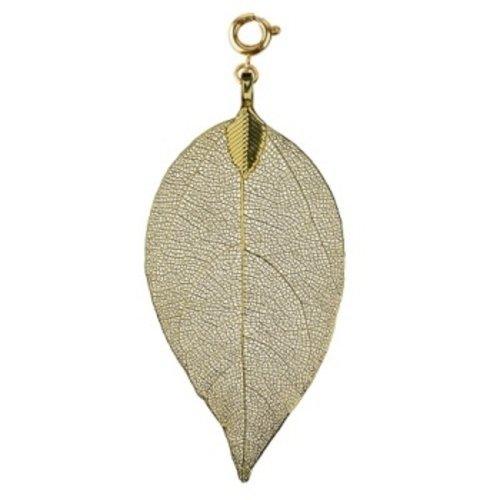 Bodhi blad groot goudkleurig