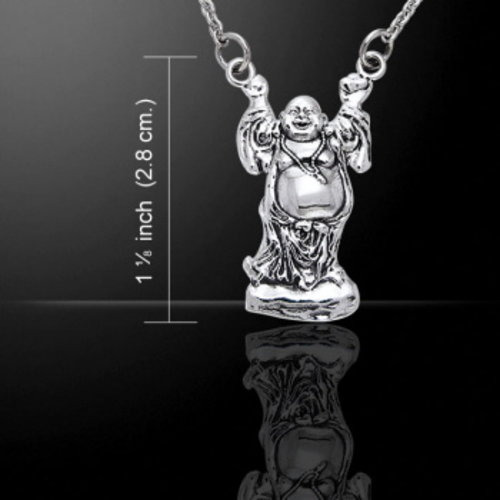 Boeddha halsketting zilver
