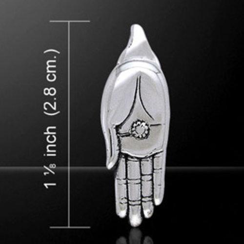 Hand van boeddha zilver