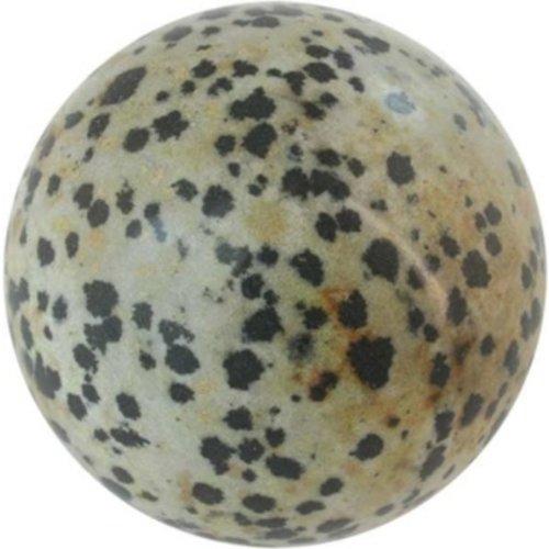 Edelsteen bol Jaspis dalmatier 4 cm
