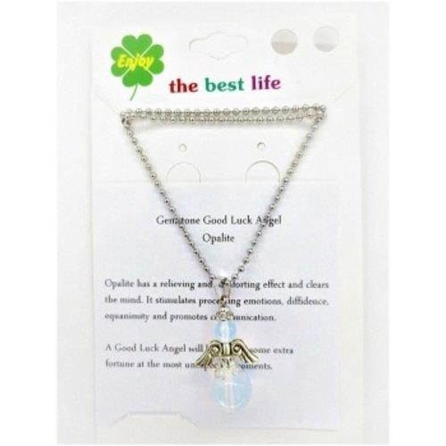 Engel met collier Opaliet