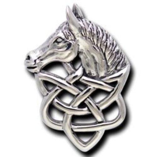 Celtic paard hanger zilver