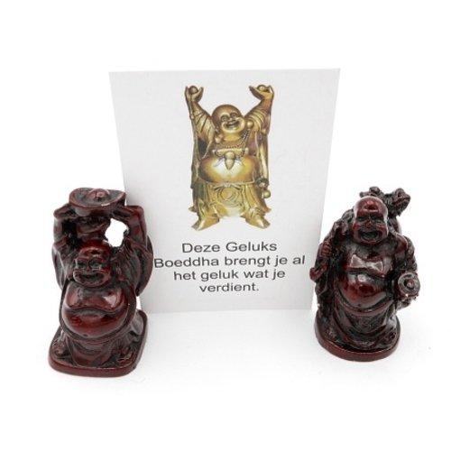 Boeddha in organza zakje met kaartje