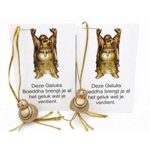 10 x Boeddha goudkleur op kaartje