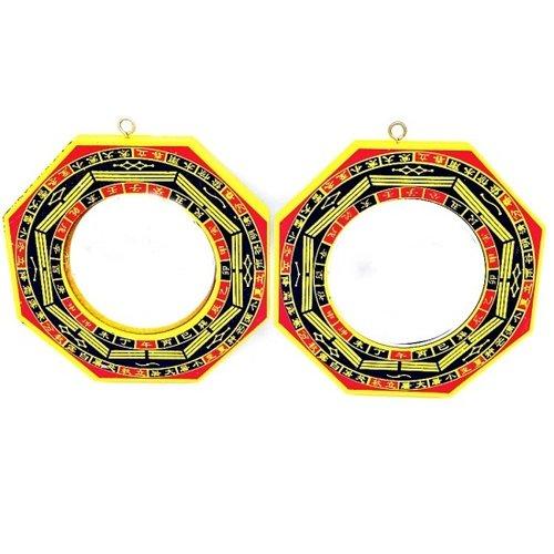 Bagua spiegel set ( 1 holle en 1 bolle)