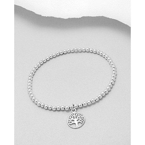 Armband zilver met levensboom