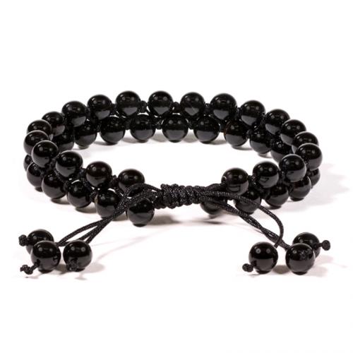 Armband zwarte agaat