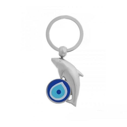 Dolfijn lucky eye sleutelhanger