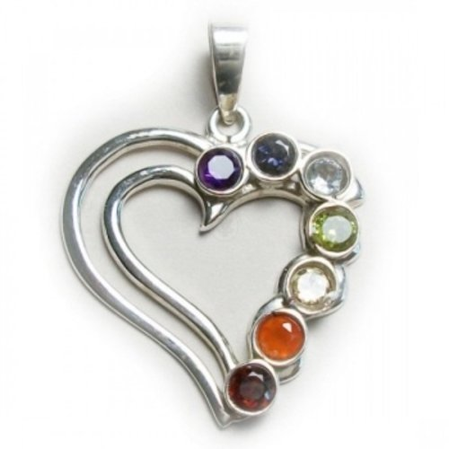 Chakra hanger metaal hart