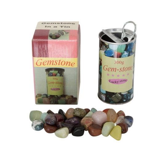 300 gram edelstenen in cadeau blik
