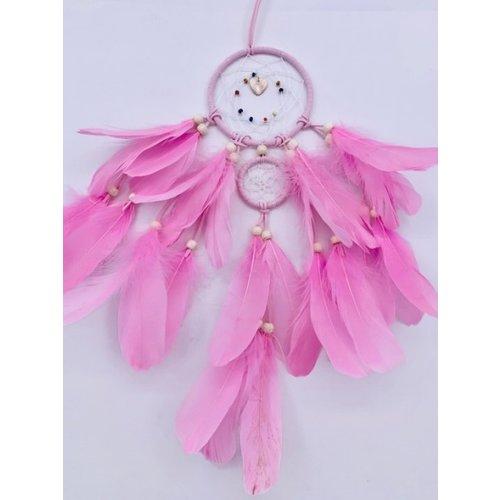 Dromenvangers met ganzenveren roze