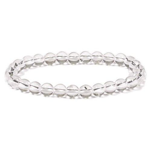 Armband bergkristal 6 mm