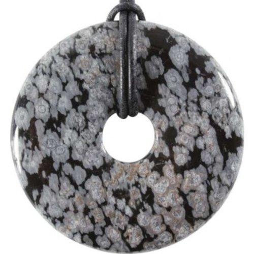 Donut Obsidiaan sneeuwvlok 5 cm