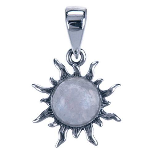 Zilver hanger zon met maansteen