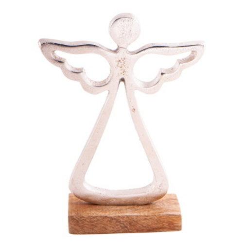Engel beeldje metaal 20 cm