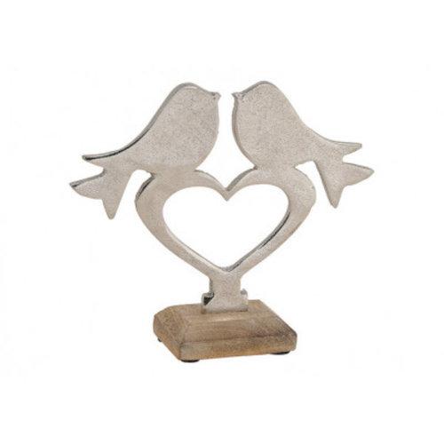 Display mangohout vogel op hart