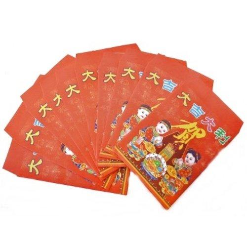 Chinese gelukszakjes klein 10 stuks