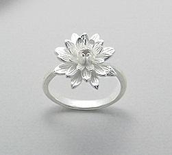 Sieraden bloemen zilver