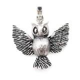 Uil hanger zilver