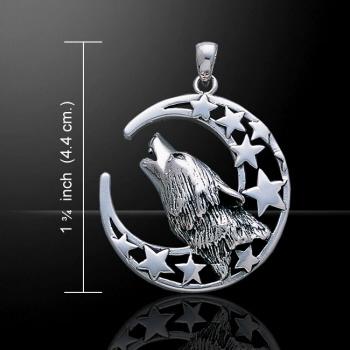 Wolf hanger zilver