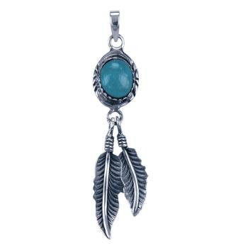 Zilveren sieraden veren