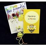 Bijen cadeau - fijn dat je er bij was - in organzazakje