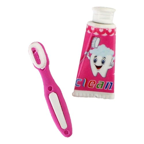 Gum tandenborstel en tube tandpasta