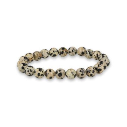 Armband Jaspis dalmatier 6 mm