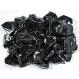 Obsidiaan zwart ruw